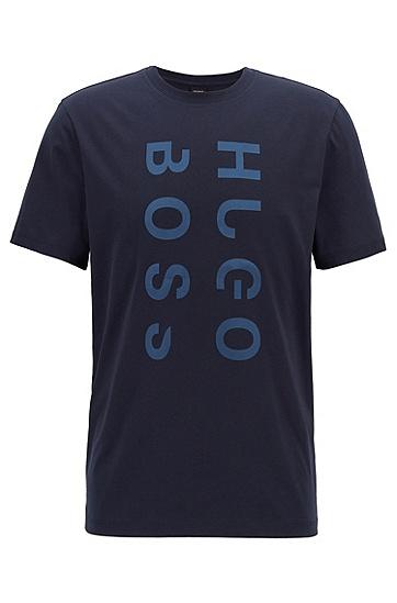 饰以多层粘合logo的水手领棉质T恤,  480_淡蓝色