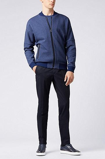 男士休闲时尚飞行员夹克,  477_淡蓝色