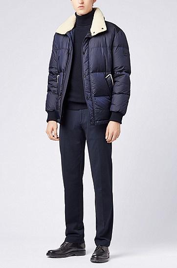男士舒适休闲纯色高领套头毛衣,  480_淡蓝色
