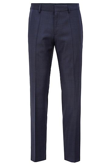 修身版意大利羊毛格伦格纹西装套装,  480_淡蓝色