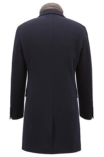 男士保暖中长款毛呢大衣外套,  480_淡蓝色