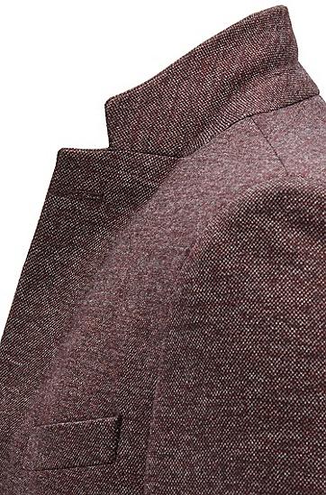男士棉质混纺修身西服,  506_暗紫色
