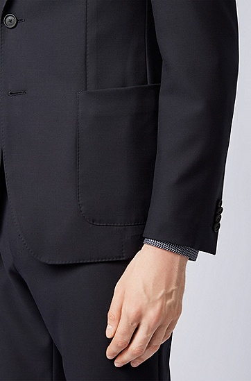 修身版可水洗羊毛轻薄运动夹克衫,  480_淡蓝色