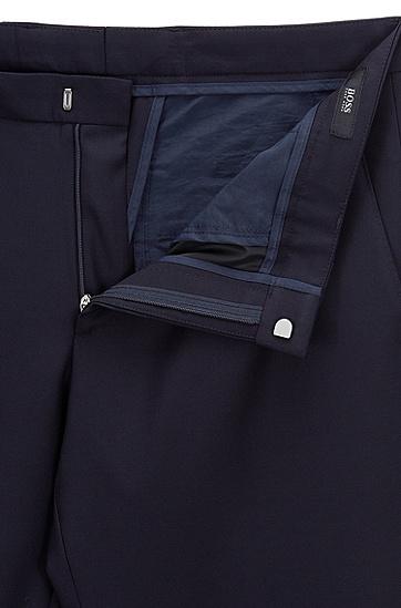 修身版可水洗羊毛长裤,  480_淡蓝色