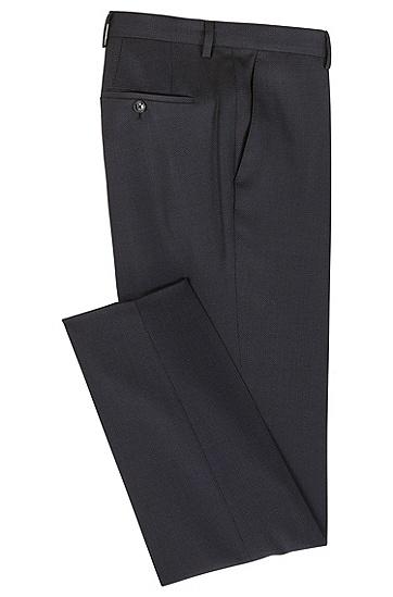 修身版图案式羊毛长裤,  480_淡蓝色