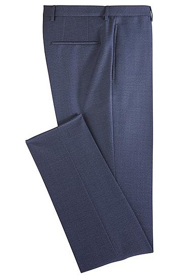 饰以燕尾腰带的修身版羊毛长裤,  480_淡蓝色