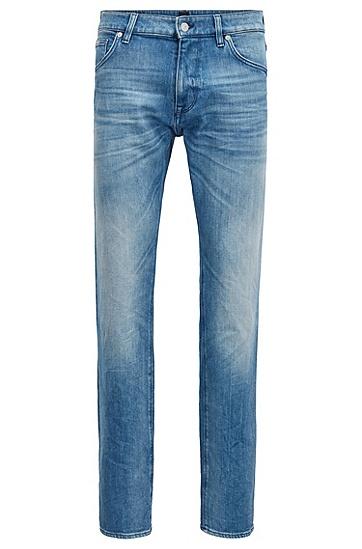 常规版意大利弹力竹节牛仔布牛仔裤,  442_水蓝色