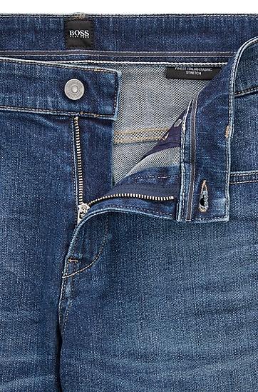 修身版意大利弹力牛仔布牛仔布,  430_亮蓝色