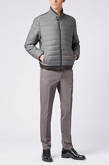 修身版丝光弹力棉斜纹布斜纹棉布裤,  069_淡灰色