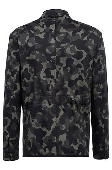 男士棉质迷彩常规版型休闲西服,  301_暗绿色