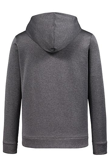 男士纯色休闲连帽拉链卫衣外套,  081_淡灰色
