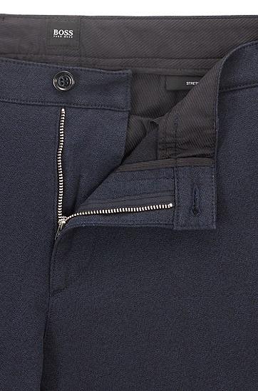 常规版弹力mouliné斜纹布斜纹棉布裤,  480_淡蓝色