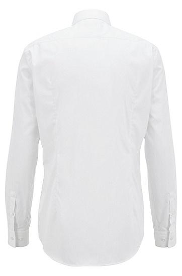 修身版结构化芦荟元素棉质衬衫,  100_白色