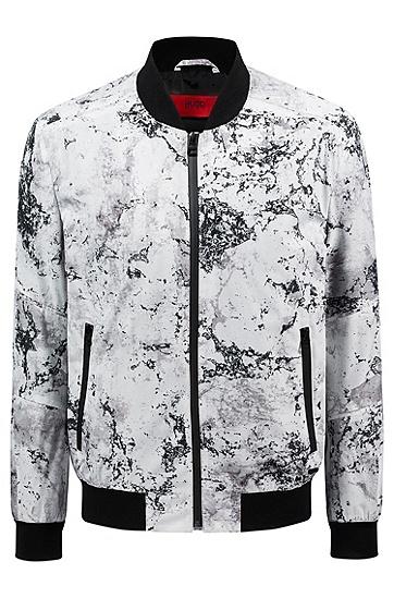 男士休闲茄克棒球服外套夹克,  120_淡白色