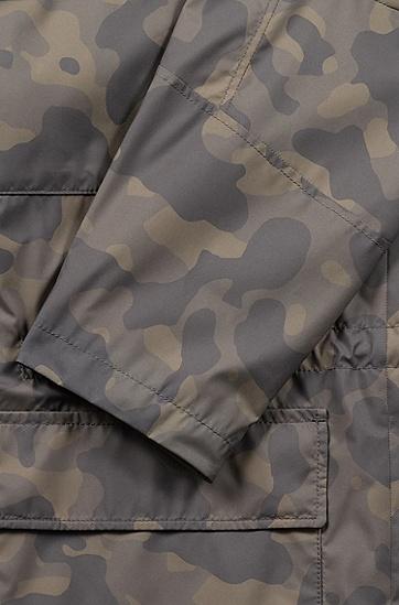 男士立领多口袋防风迷彩外套夹克,  303_暗绿色