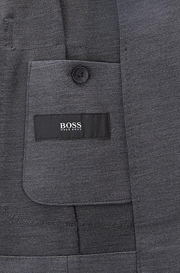 男士羊毛混纺修身西装外套,  021_暗灰色