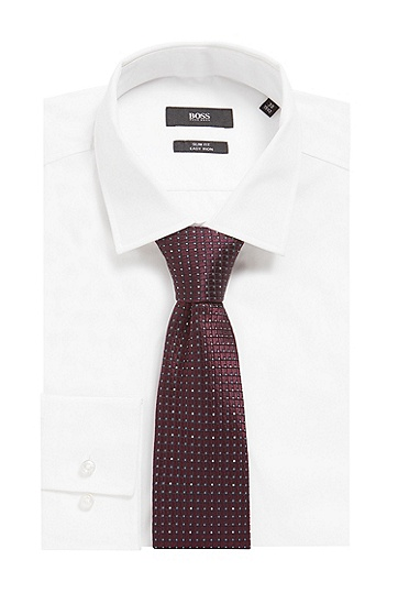 图案式提花梭织意大利桑蚕丝领带,  506_暗紫色