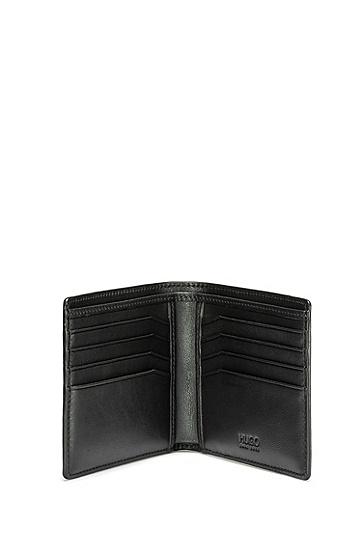 饰以反转logo的皮革钱包,  001_黑色