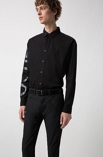 带两枚哑光青铜腰带扣的双面腰带,  004_黑色