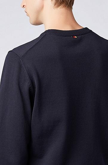 水手领棉质毛衣,  402_暗蓝色