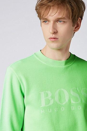 男士休闲圆领长袖卫衣,  329_亮绿色