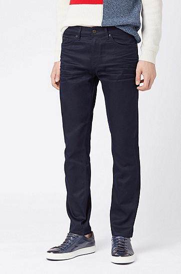 男士休闲棉质牛仔裤,  410_海军蓝色