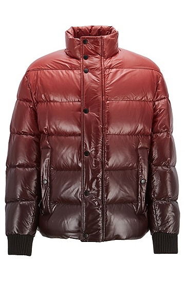 男款休闲羽绒服,  608_暗红色