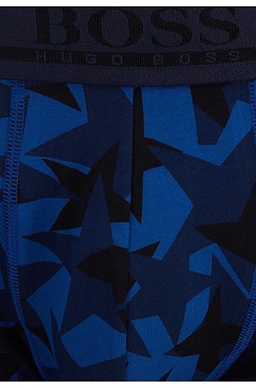 男士商务休闲弹力棉中腰平角内裤短裤,  406_暗蓝色