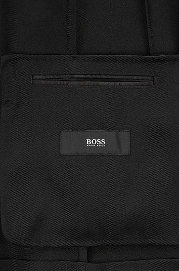 男士商务休闲羊毛西装西服套装,  001_黑色