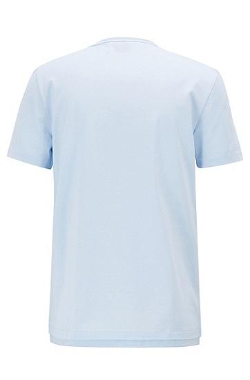 男士休闲风圆领短袖T恤,  450_浅蓝色