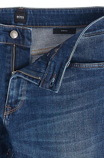 男士中低腰水洗牛仔裤,  417_海军蓝色