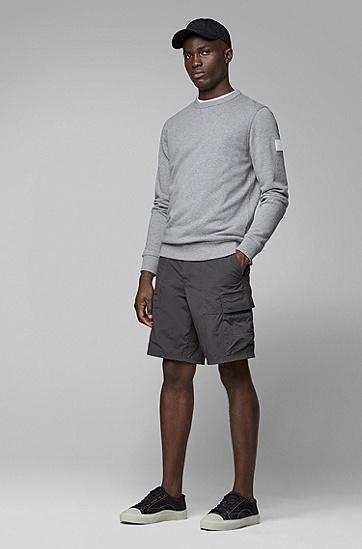 男士舒适休闲棉质长袖卫衣,  051_浅灰色