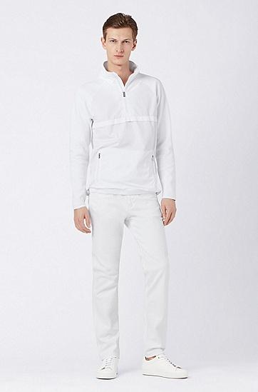 男士休闲长袖上衣,  100_白色