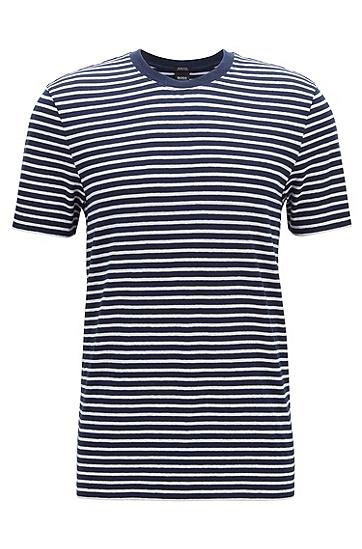 男士时尚休闲短袖T恤,  402_暗蓝色