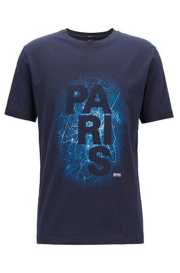 限量版巴黎城市印花Formula E T恤,  480_淡蓝色