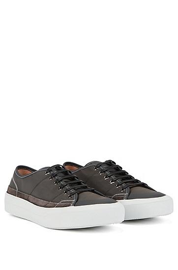 秀场款低帮胶底运动鞋,  021_暗灰色