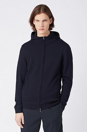 男士休闲针织外套,  402_暗蓝色