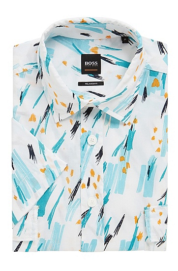 男士时尚休闲衬衫,  491_淡蓝色