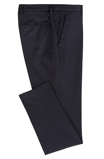 男士商务休闲直筒长裤,  402_暗蓝色