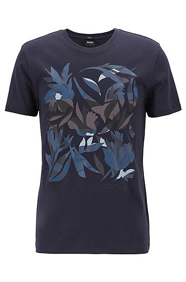 男士藏蓝色商务休闲修身短袖T恤,  402_暗蓝色