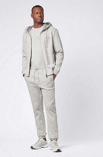 男士时尚LOGO印花短袖T恤,  057_浅灰色