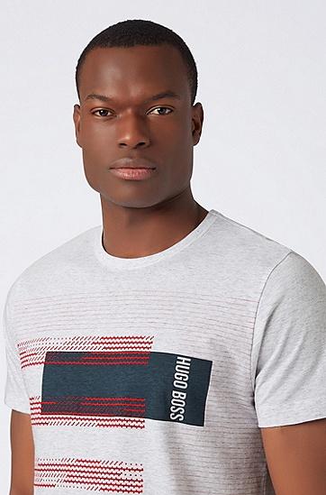 男士休闲时尚T恤,  057_浅灰色