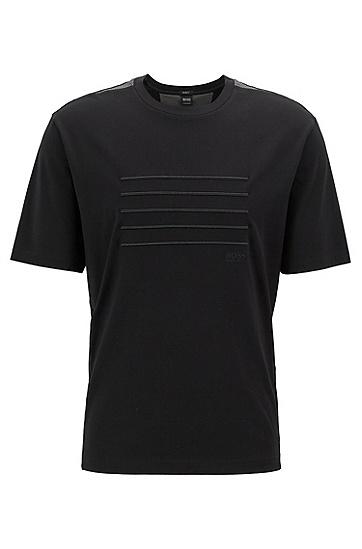 纯色时尚休闲短袖圆领T恤男,  001_黑色