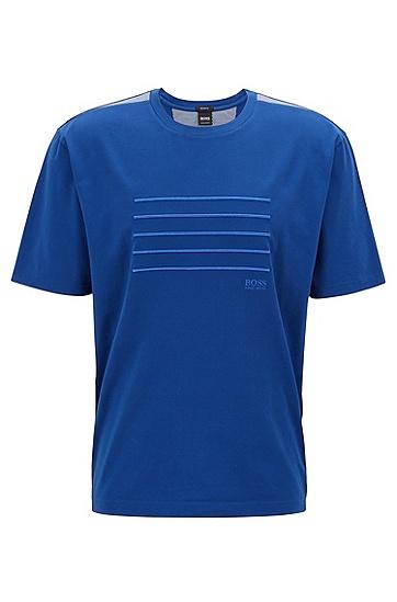 纯色时尚休闲短袖圆领T恤男,  462_淡蓝色