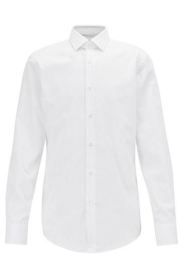 男士商务长袖衬衫,  100_白色