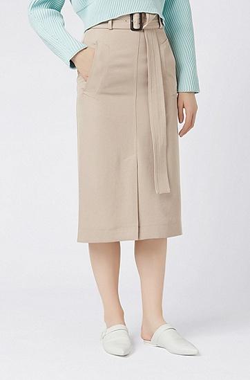 女士半身裙,  267_中米色