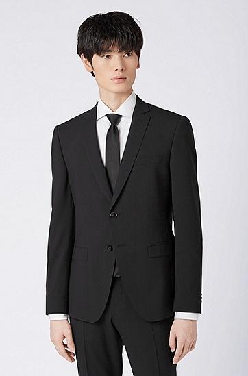 男士时尚商务西服套装,  001_黑色