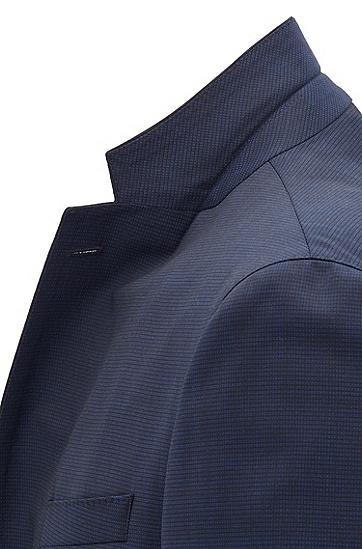 男士藏蓝纯色修身时尚西服套装,  475_淡蓝色
