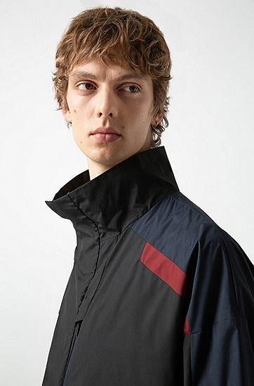 男士休闲立领中长款棉衣外套,  001_黑色