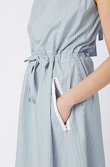 女士时尚都市连衣裙,  439_亮蓝色